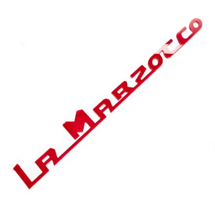 LA MARZOCCO CUSTOM 250mm ACRYLIC NEW LOGO (RED)